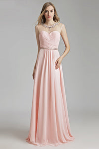 Elegant Sweetheart Beaded A-line Evening Dress Evening Dresses 2 Pink