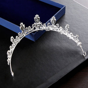 European White Crown Bridal Wedding Accessories Diadem Diadems