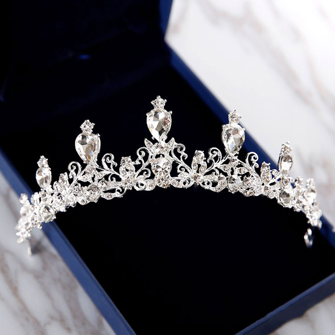 European White Crown Bridal Wedding Accessories Diadem Diadems A