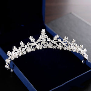 European White Crown Bridal Wedding Accessories Diadem Diadems B