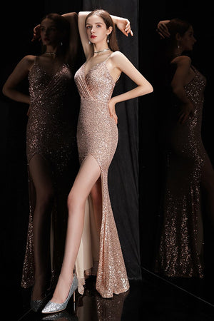 Fishtail Slim Slit Ladies Party Dress Summer Brides