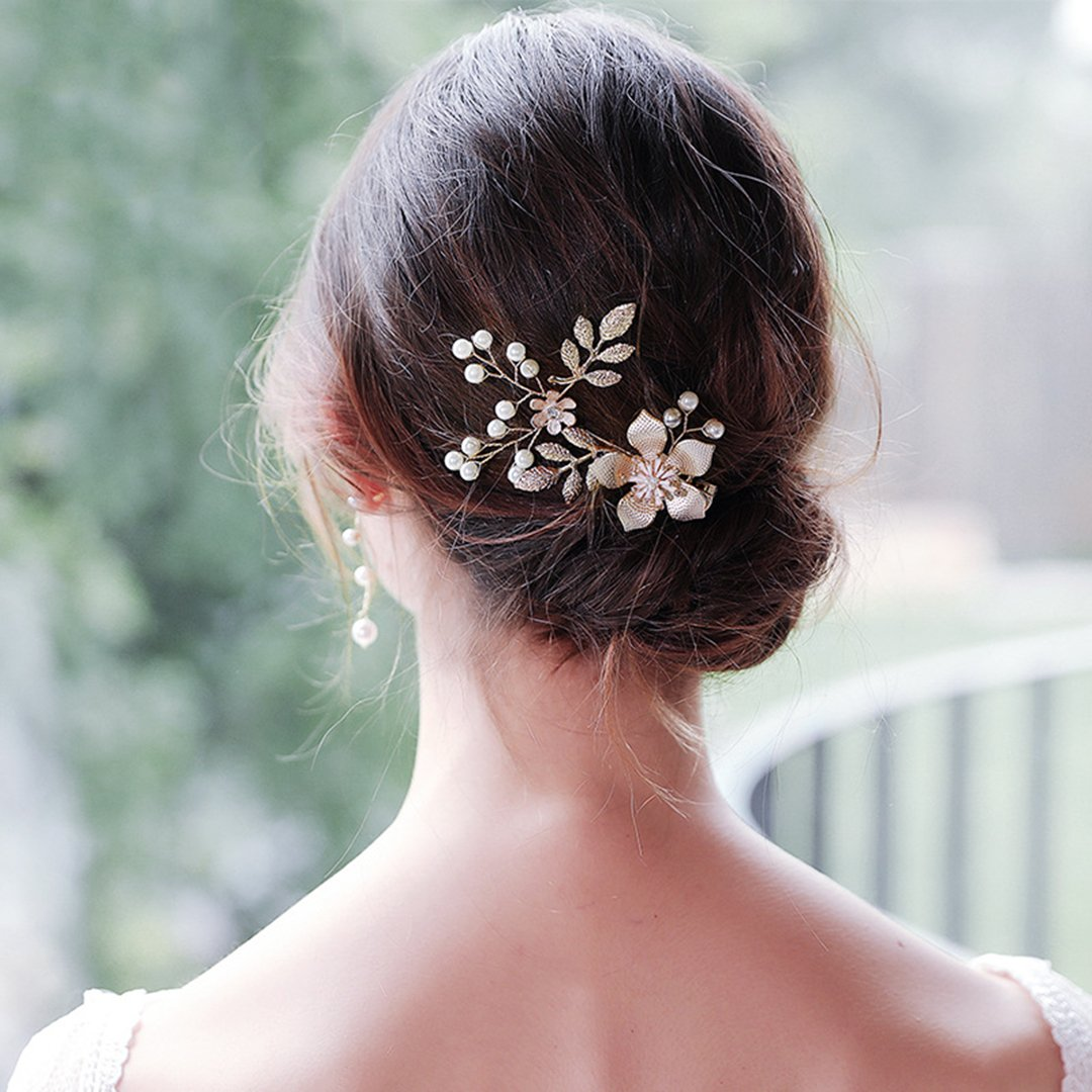 Flowers Pearl Bridal Side Clip Wedding Hair Clip Accessories Hair Combs