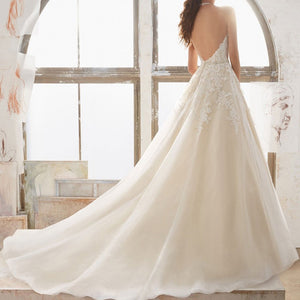 French Style Backless Halter Wedding Dress Wedding Dress