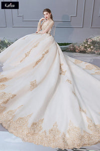 French Wedding 2020 New Bridal Dresses Brides S LONG TAIL