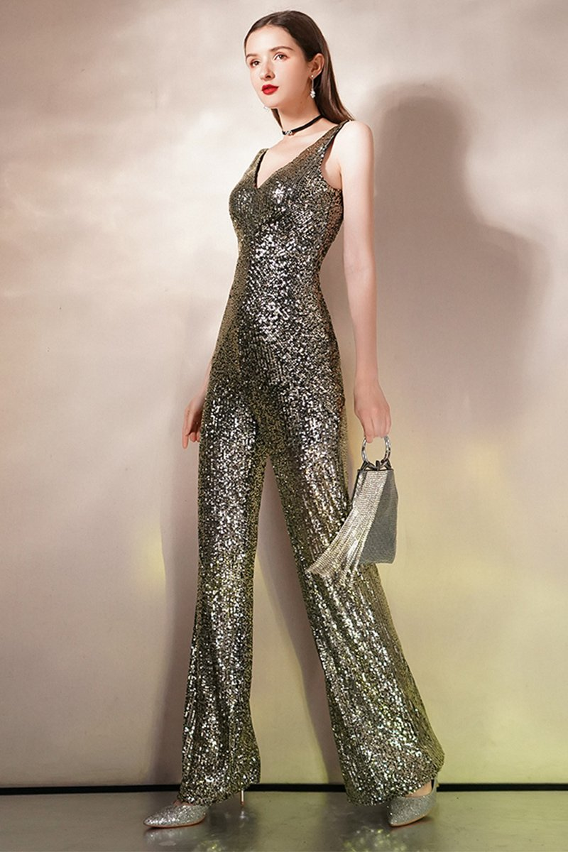 Gold Siamese Trousers Ladies Jumpsuits Brides