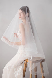 Handmade Bridal Veil Simple Wedding Photograph Accessory Accessories one size white