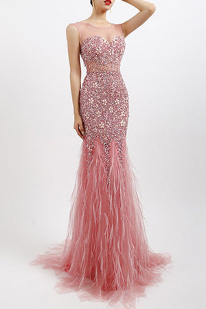 Handmade Diamond Luxury Crystal Sexy Dress Evening Dress Evening Dresses XS Pink