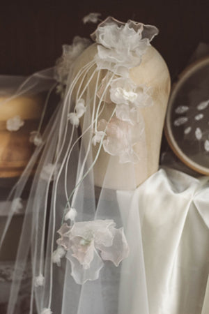 Handmade Soft Yarn Flowers Bridal Veil Wedding Accessory Accessories