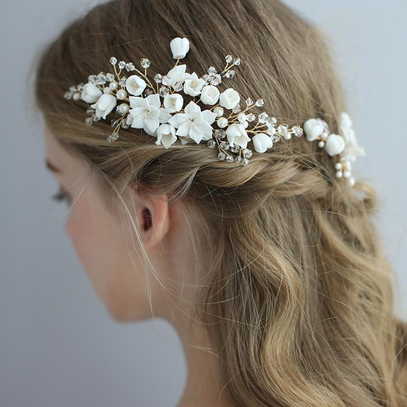 Headdress Flower Wedding Accessories Handmade Hairpin Haircomb Hair Pins