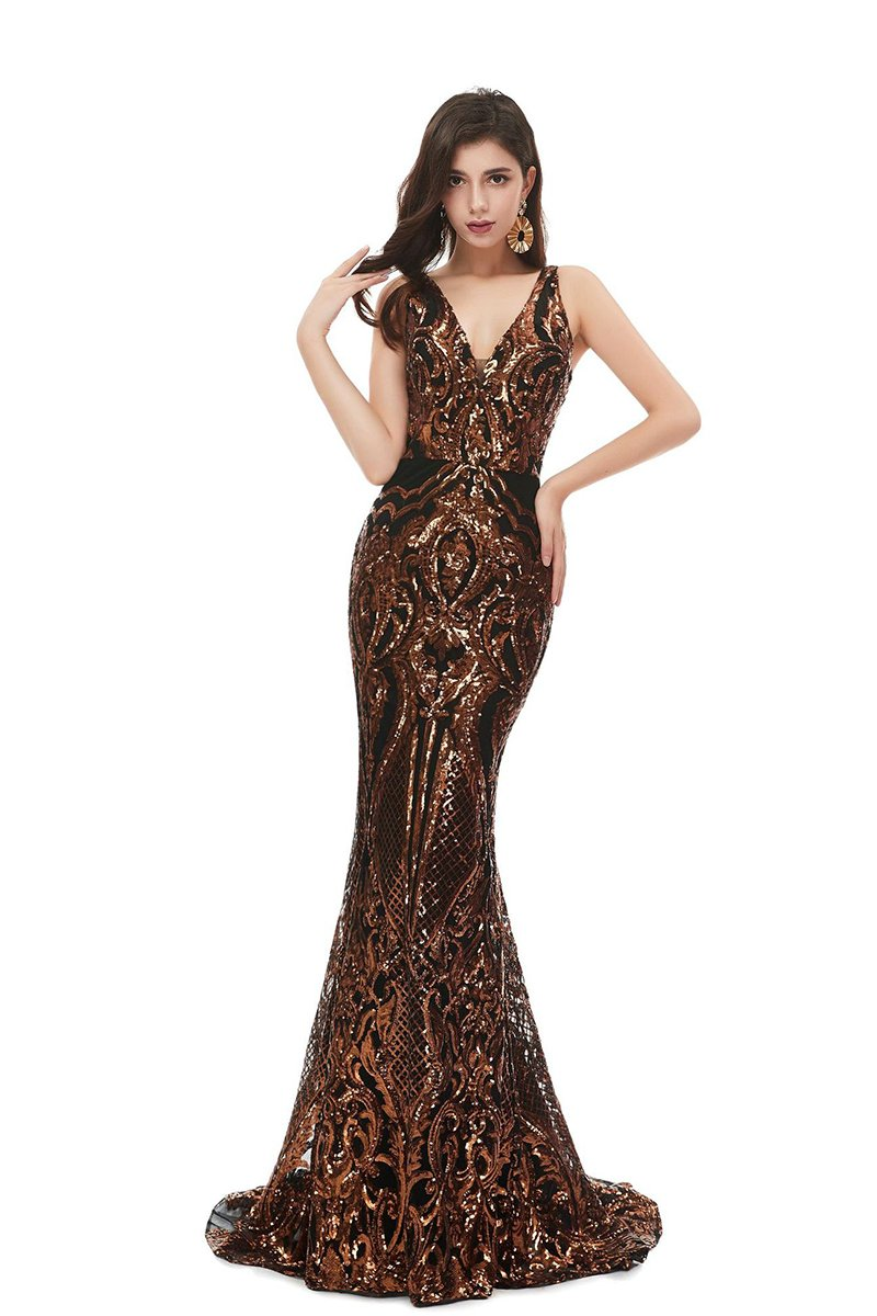 New Sexy Sleeveless Sequin Evening Dress US2 1