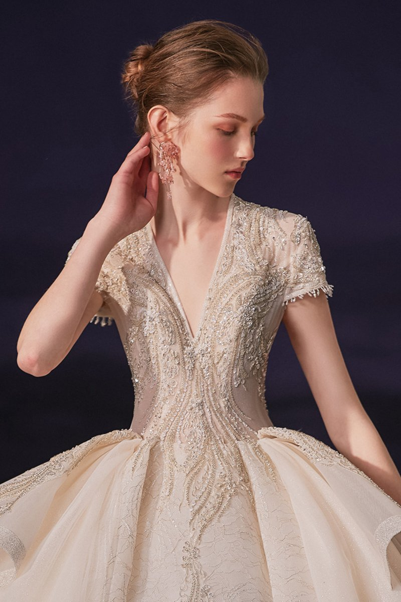 Noble Luxury Wedding Dress Brides