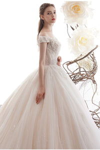 Off-shoulder Wedding Dress 2020 New Bride Temperament Brides