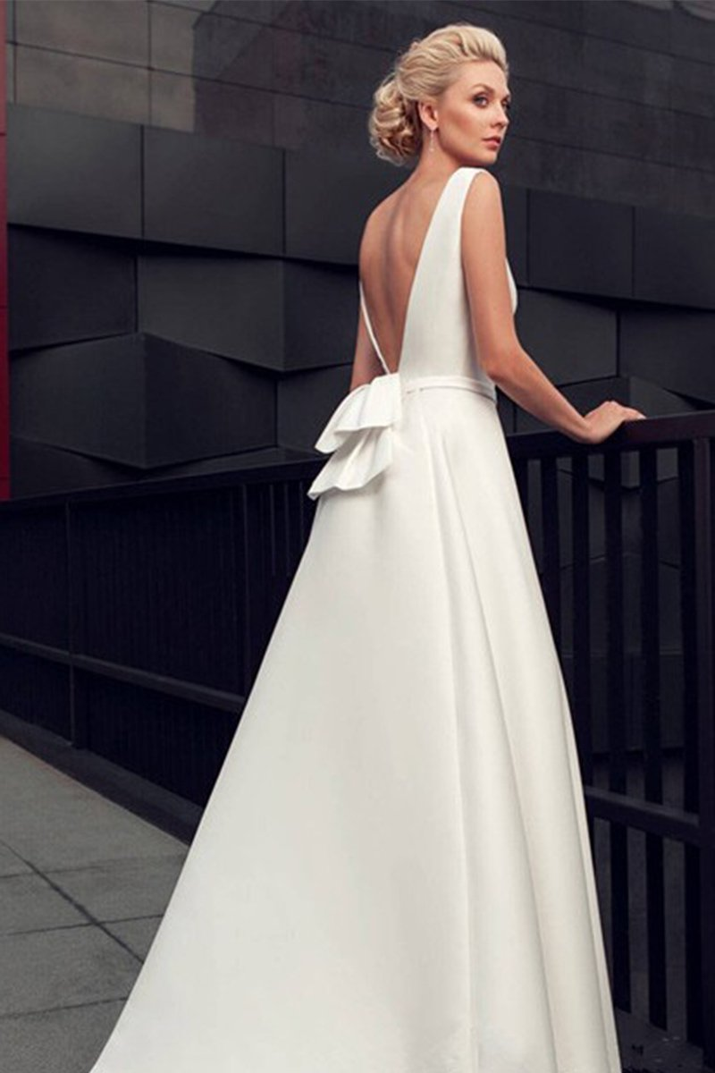One Shoulder Bride Backless Wedding Dress Brides