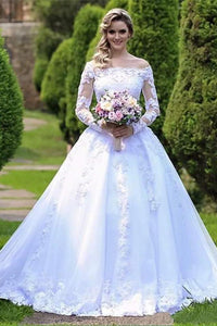 One Shoulder Wedding Dress Bride Princess Lace White Wedding Dress US:2(S) white