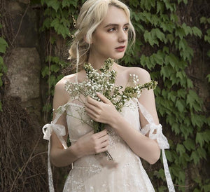 Pastoral Fresh Retro Wedding Dress Brides
