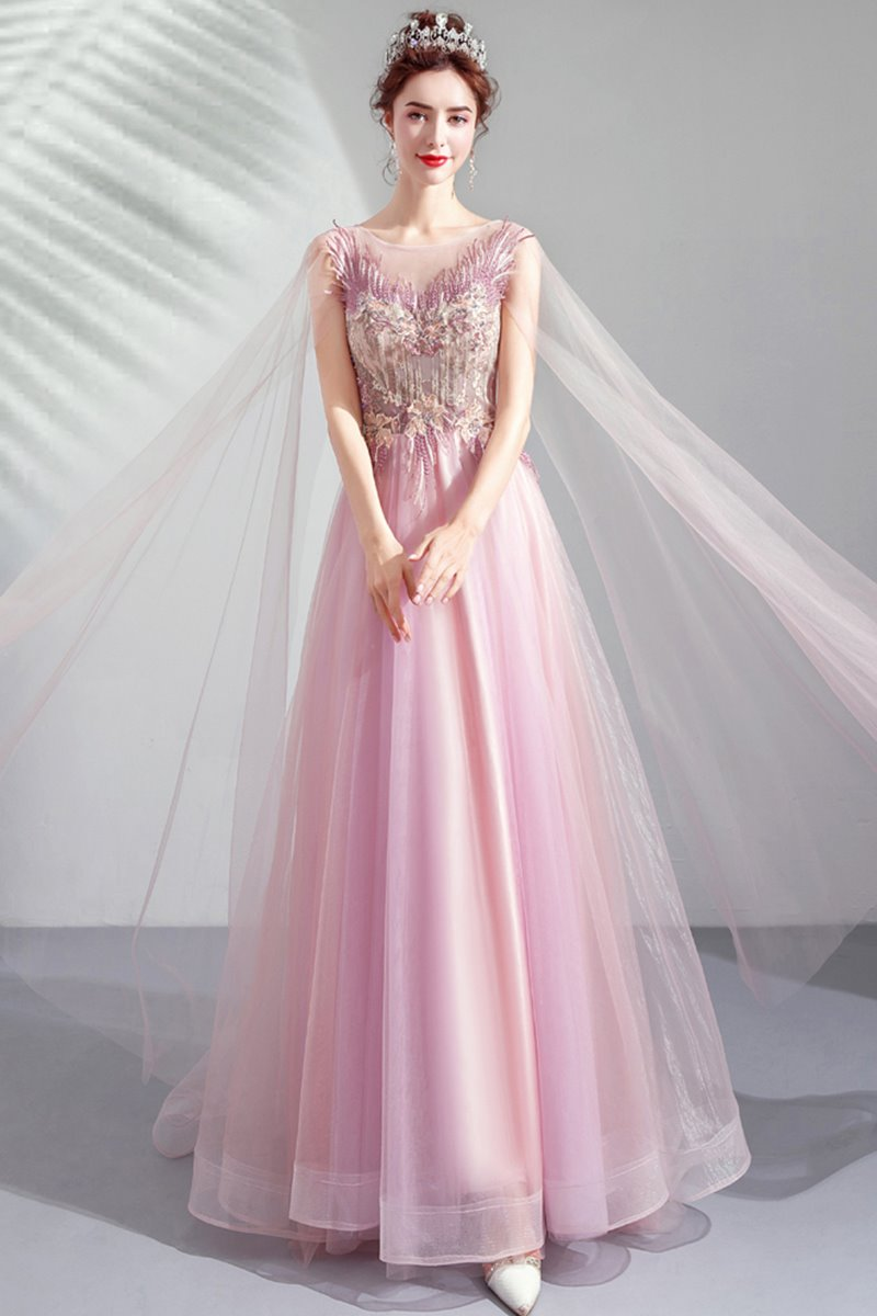 Pink Bridal Toast Dress Dinner Wedding Dress Brides