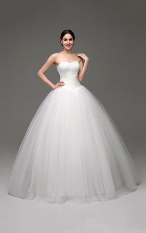 Princess Wedding Dress Tube Top White Wedding Dress