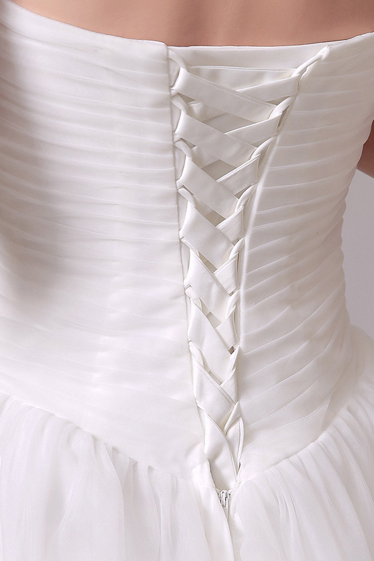 Ruched Beaded Strapless Wedding Dress Wedding Dress