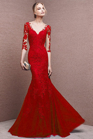 Sexy Elegant Lace Wedding Dress Wedding Dress S Red