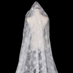 Shiny bridal veil Long Tail Wedding Bridal Veil Bridal Veil