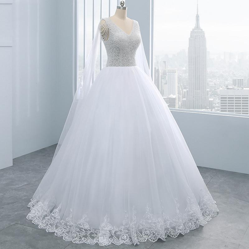 Shoulder Veil Pearl Lace Bride Wedding Dress Wedding Dress