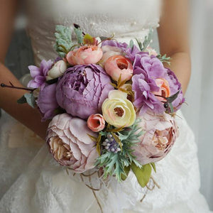 Simulation Wedding Accessories Wedding Bouquet Purple Wedding Bouquet