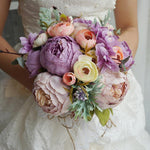 Simulation Wedding Accessories Wedding Bouquet Purple Wedding Bouquet Purple