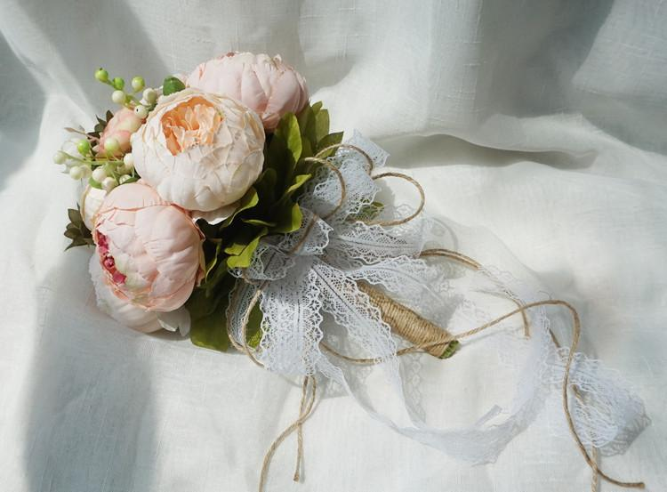 Simulation Wedding Bouquet Pink Wedding Bouquet