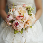 Simulation Wedding Bouquet Pink Wedding Bouquet Pink