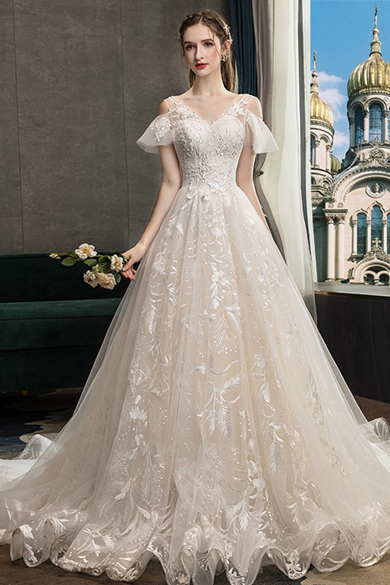 Starry Sky Trailing Super Fairy Dream Wedding Dress Brides