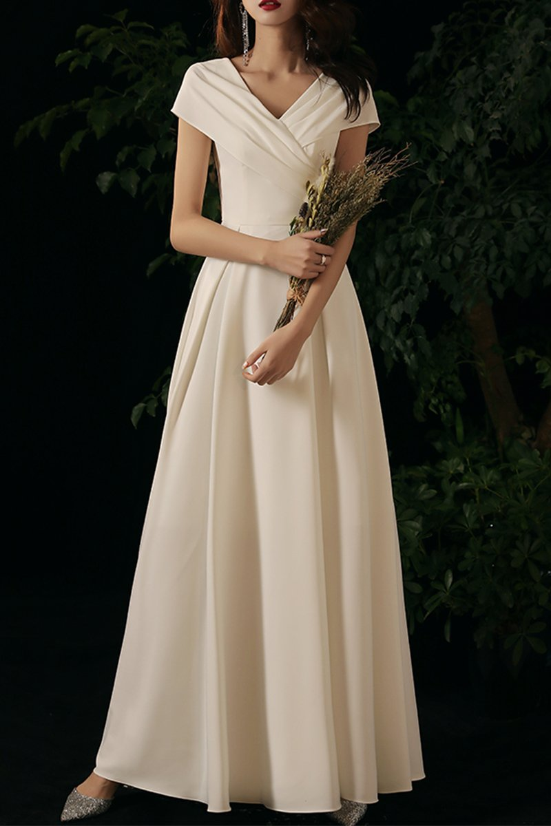 Summer Ladies Banquet Satin Maxi Dress Brides