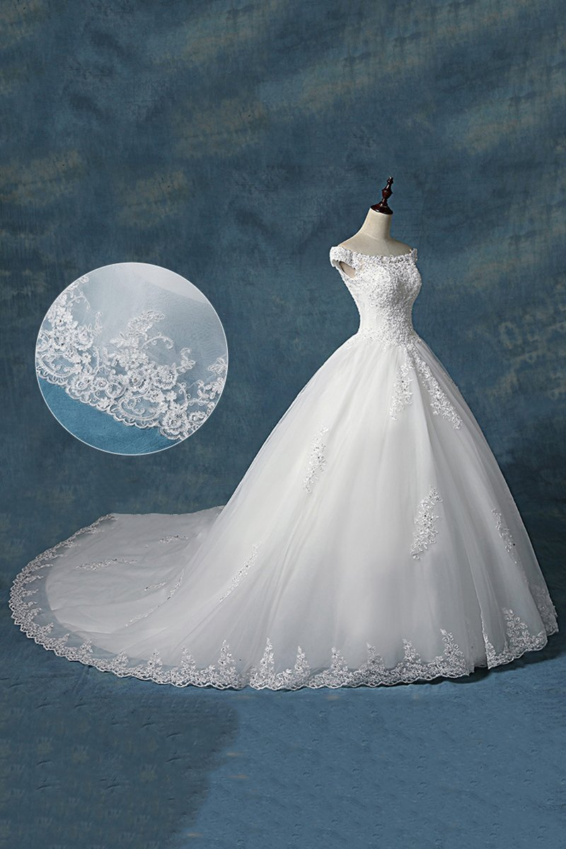 Tailed Korean-Style Simple Bride Wedding Dress Wedding Dress