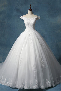 Tailed Korean-Style Simple Bride Wedding Dress Wedding Dress S White