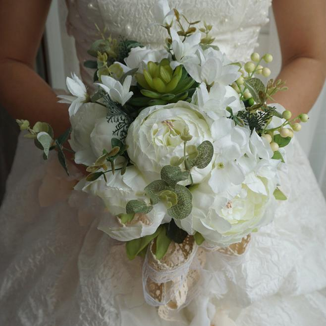 Wedding Accessories Simulation Wedding Bouquet White Wedding Bouquet White