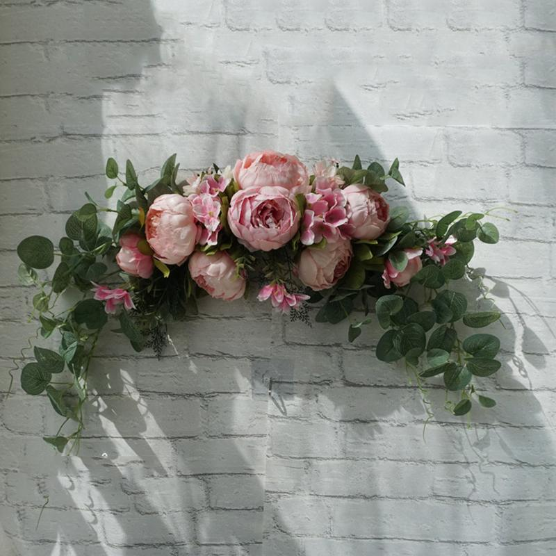 Wedding Table Decoration Flower Wedding Bouquet Decoration Wall Hanging Wedding Bouquet rose pink