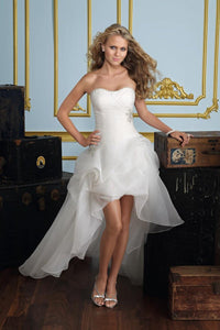 White Wedding Dress For Short Women Classic Tube Top Brides