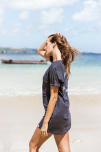 Load image into Gallery viewer, Save the ocean T-dress - Black