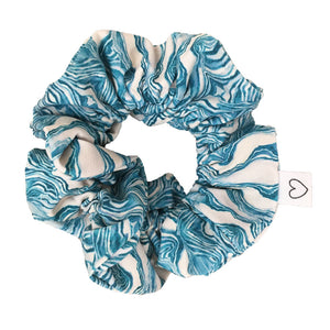 Scrunchie wave print