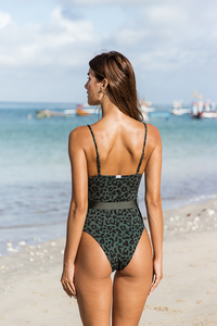 DELMARE ONE PIECE- Classy tiger/Forest green