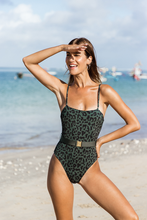 Load image into Gallery viewer, DELMARE ONE PIECE- Classy tiger/Forest green
