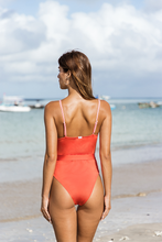 Load image into Gallery viewer, DELMARE ONE PIECE - Tigerlily stripes/Grapefruit