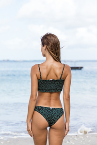 HERMINA BOTTOM - Classy tiger/Forest green