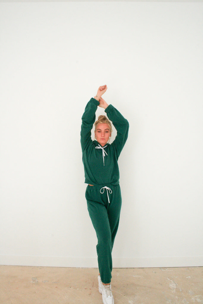 SIDDAH SWEATPANTS - Forest green