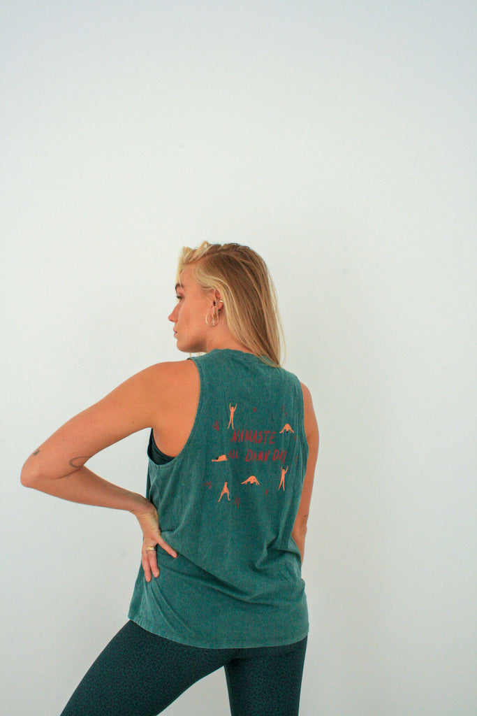 SURYA TANK TOP - Forest green