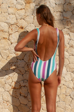 Load image into Gallery viewer, JACQUELINE ONE PIECE - Seastripe/ White