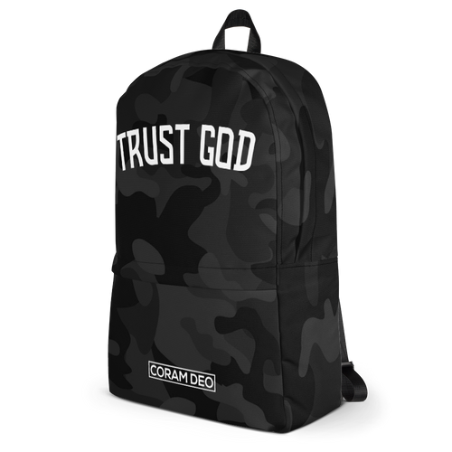 Trust God Camo Backpack - coramdeoapparel