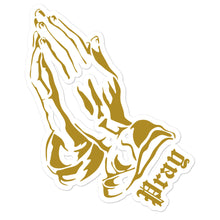 Praying Hands Bubble-free stickers - coramdeoapparel