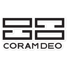 Coram Deo Bubble-free stickers - coramdeoapparel
