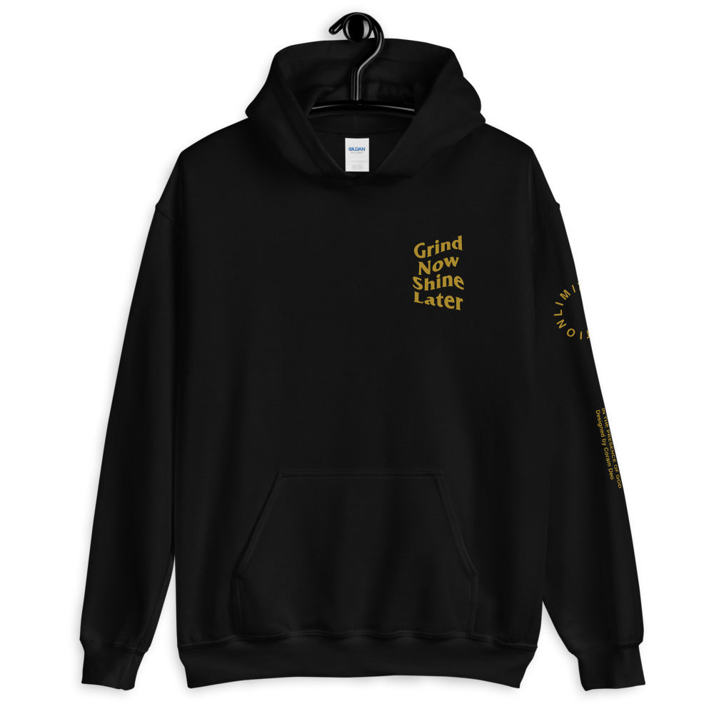 Grind Now Shine Later Hoodie - coramdeoapparel
