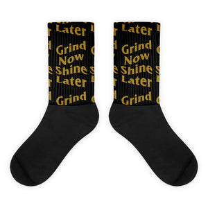 Grind Now Shine Later Socks - coramdeoapparel